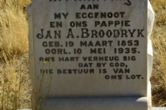 Broodryk, Jan A born 19 March 1853 died 10 May 1935