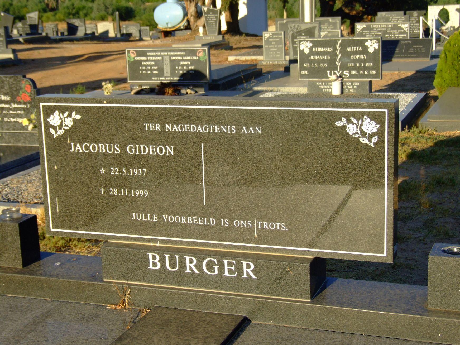 Burger, Jacobus Gideon