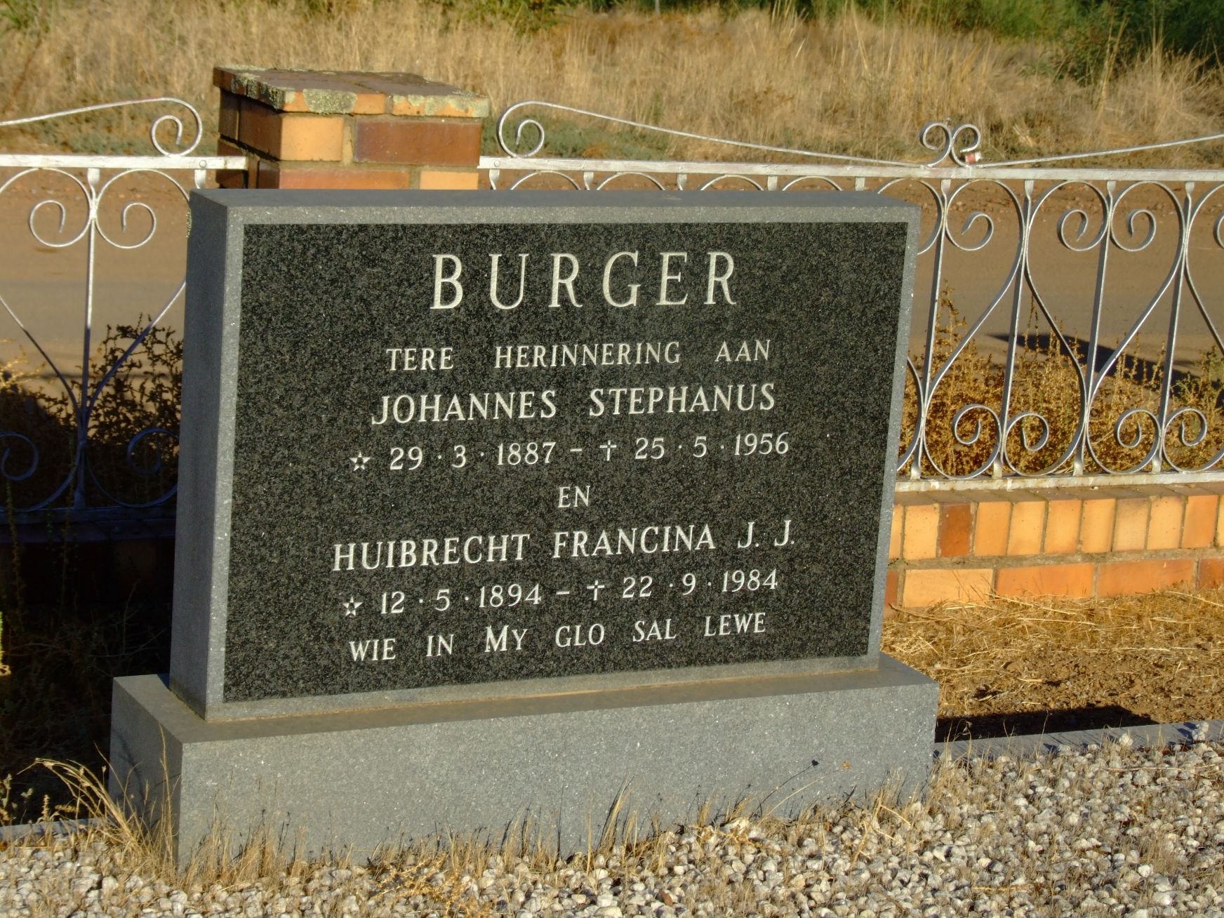 Burger, Johannes Stephanus and Burger, Huibrecht Francina J. J.