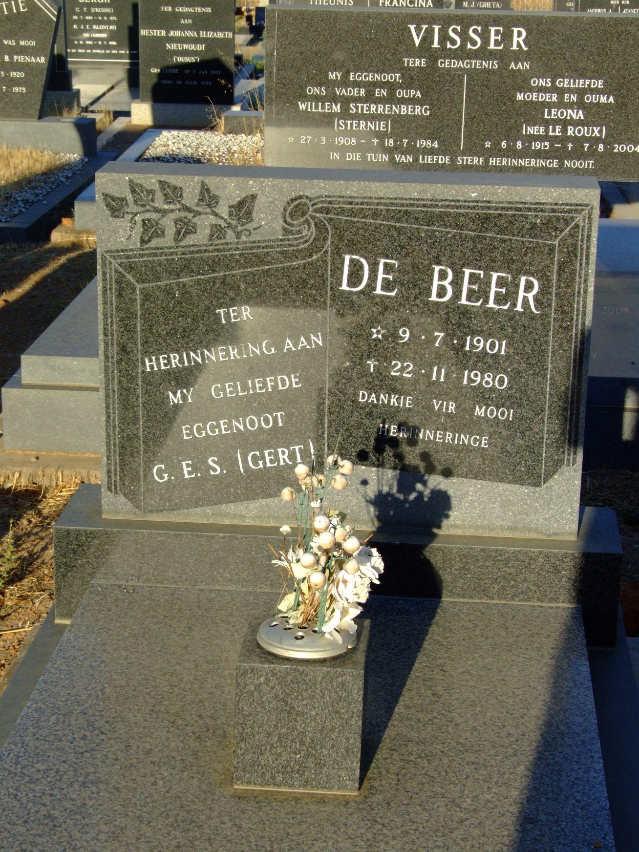 De Beer, G E S