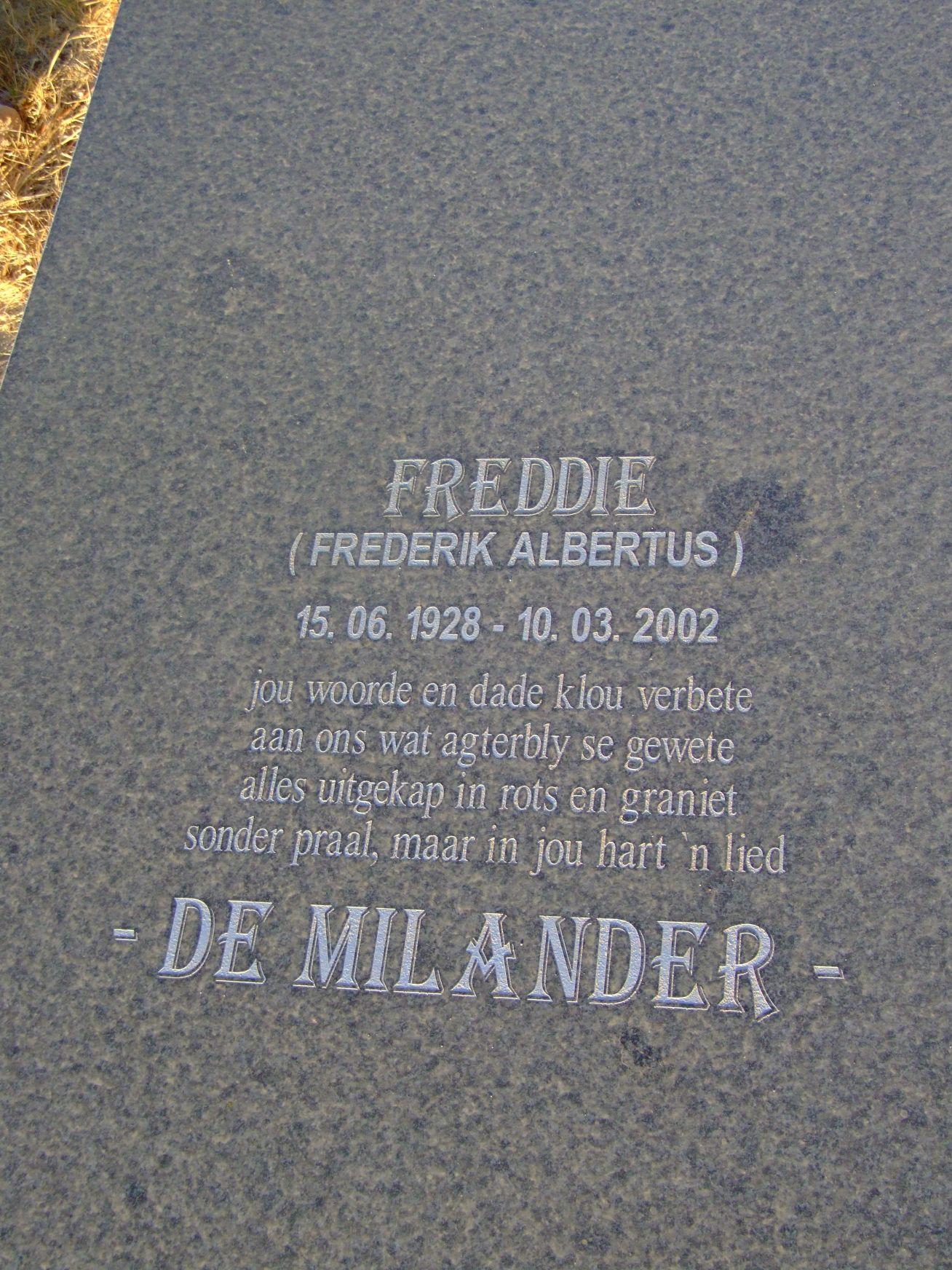 De Milander, Frederik Albertus