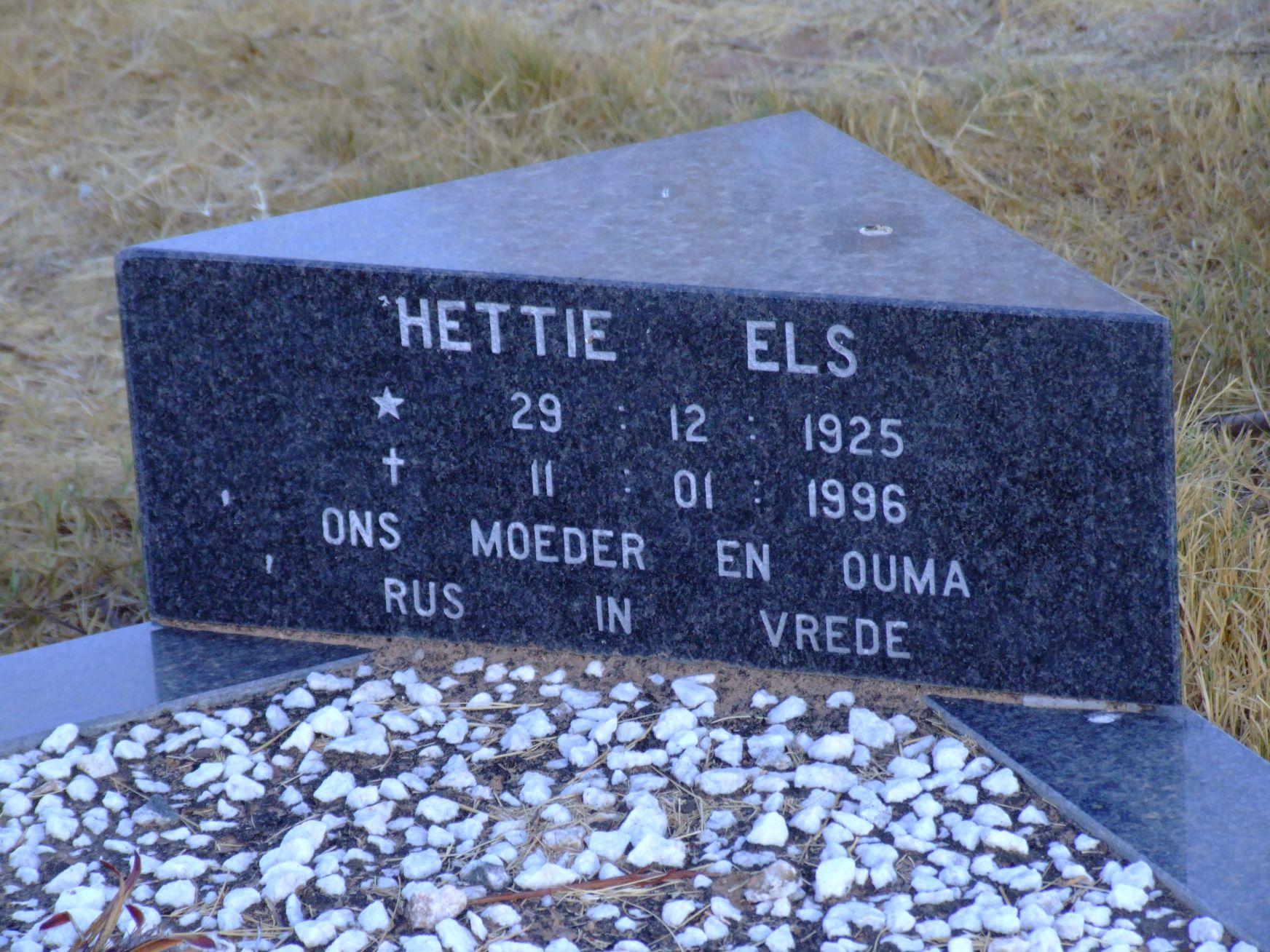 Els, Hettie