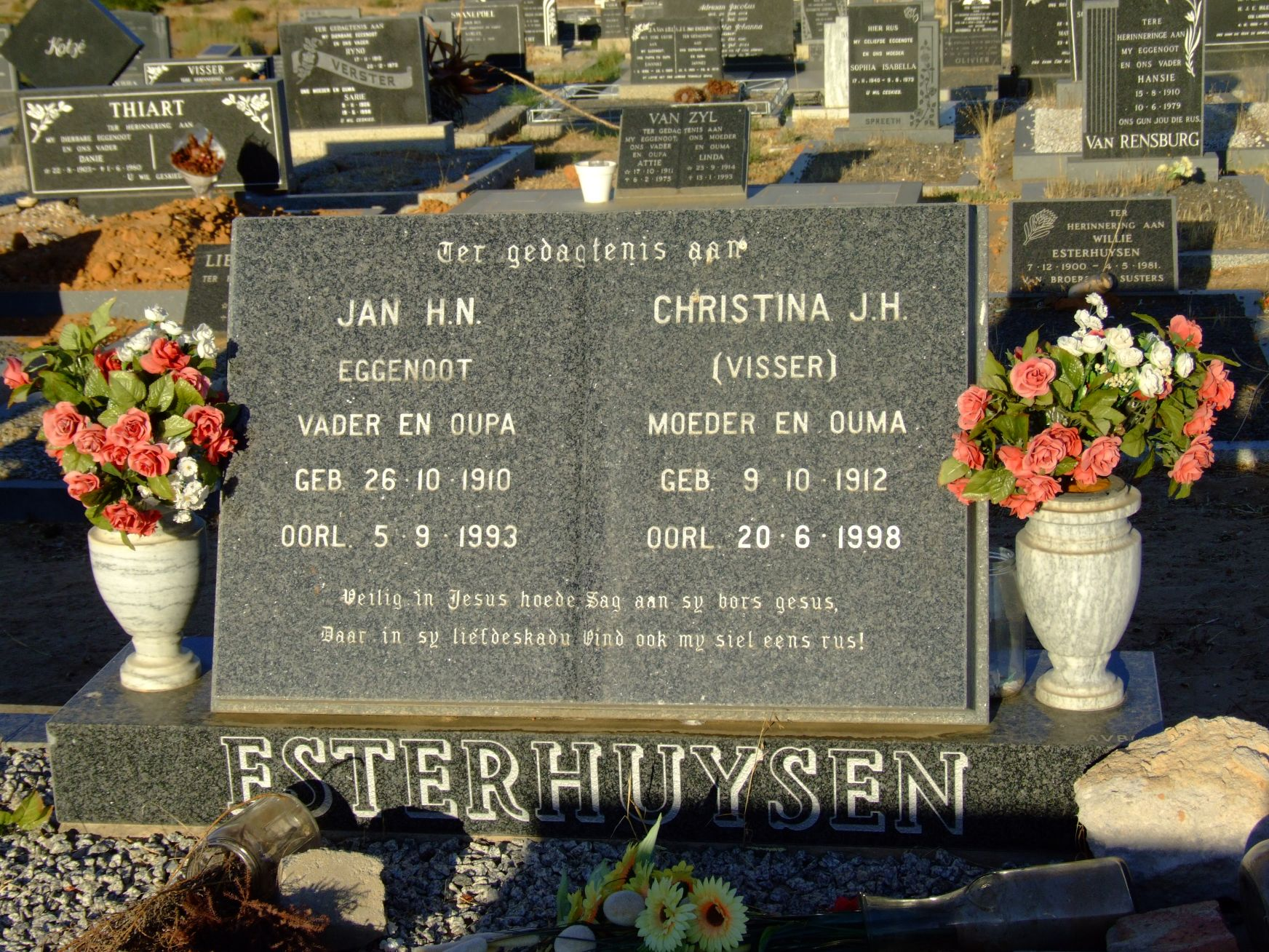 Esterhuysen, Jan H. N. and Esterhuysen, Christina J. H. (nee Vis