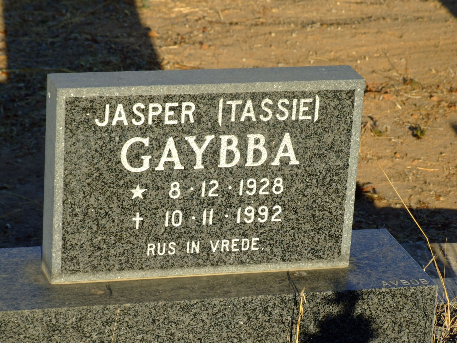 Gaybba, Jasper (Tassie)