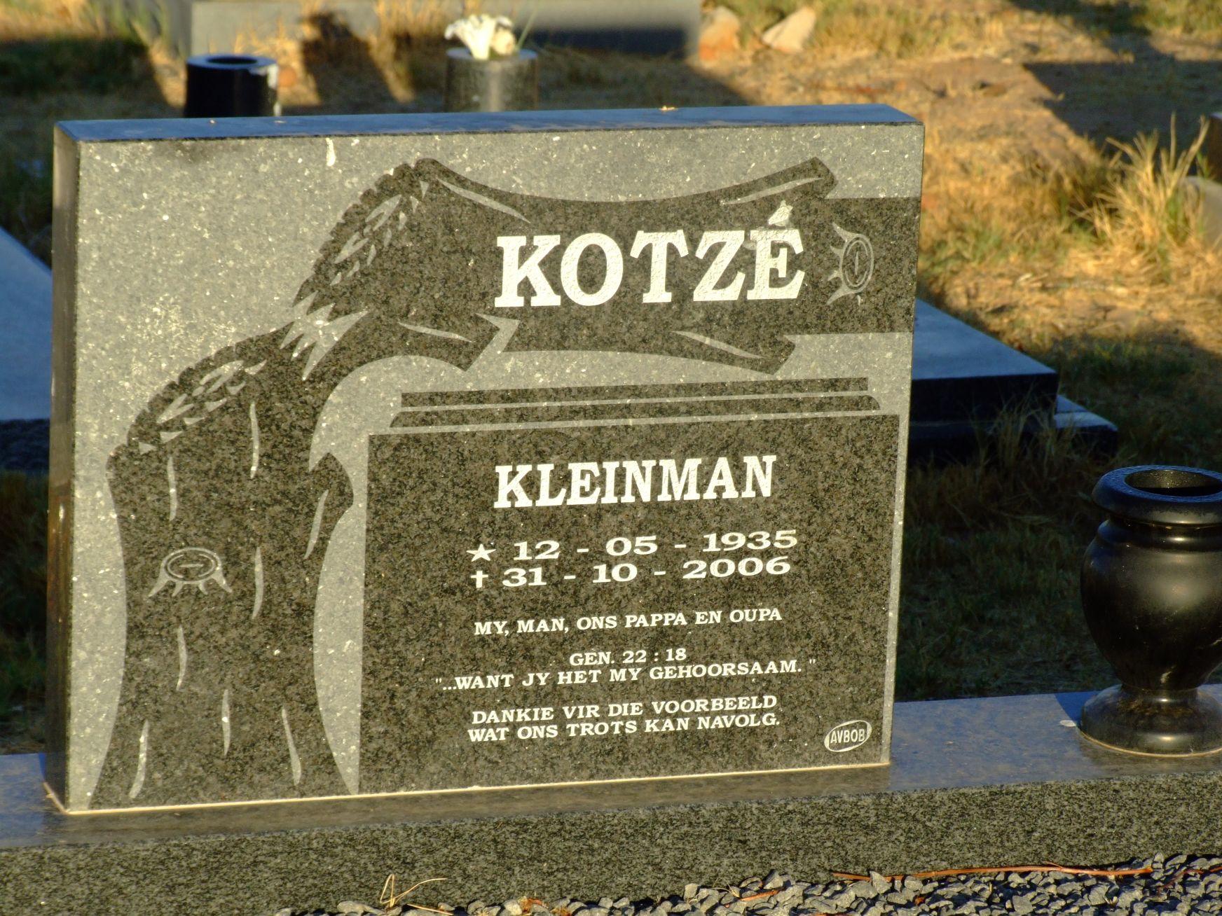 Kotze, Kleinman
