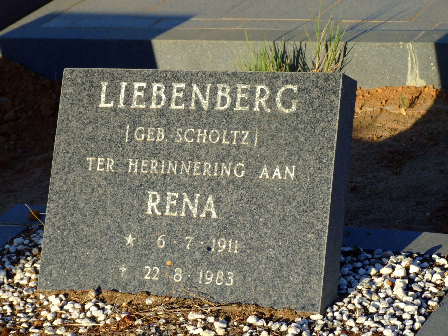 Liebenberg,Rena nee Scholtz
