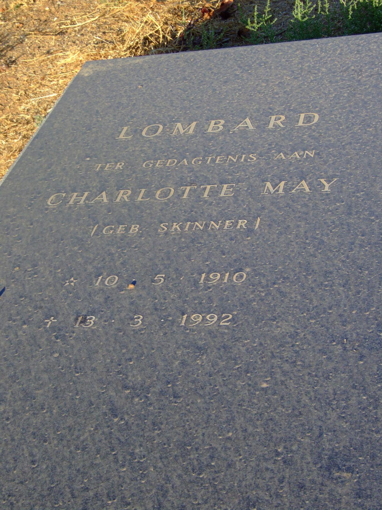 Lombard, Charlotte May nee Skinner