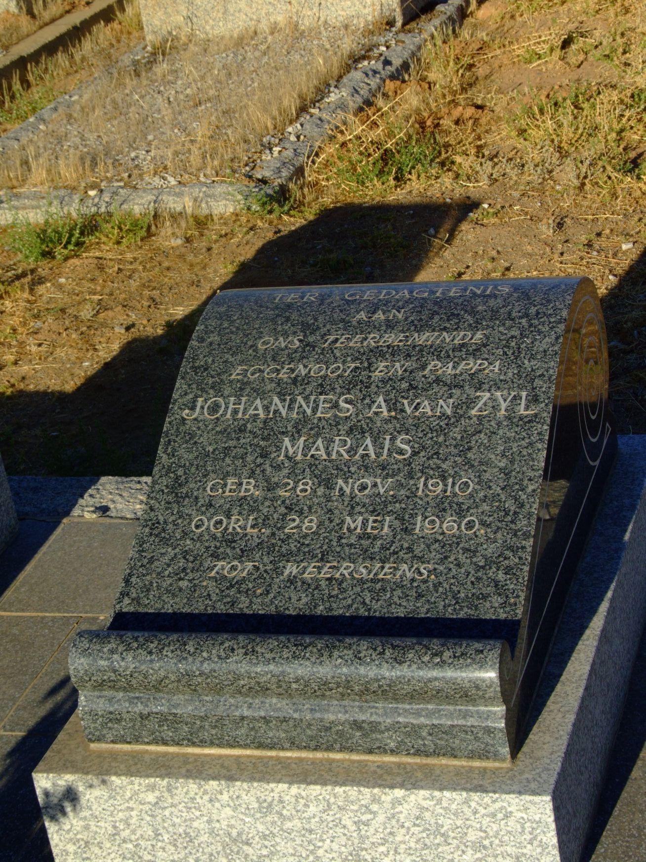Marais, Johannes A. van Zyl