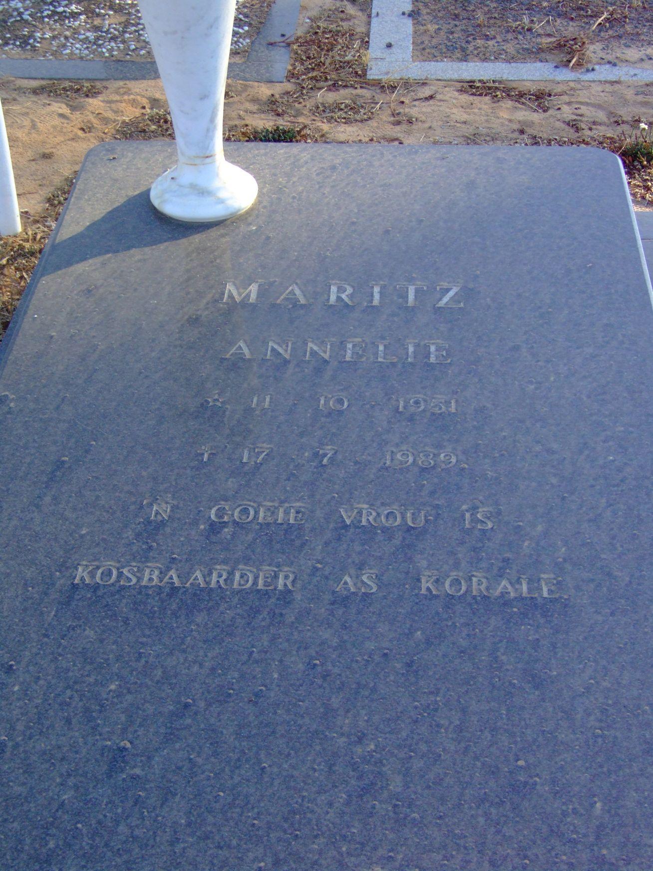 Maritz, Annelie