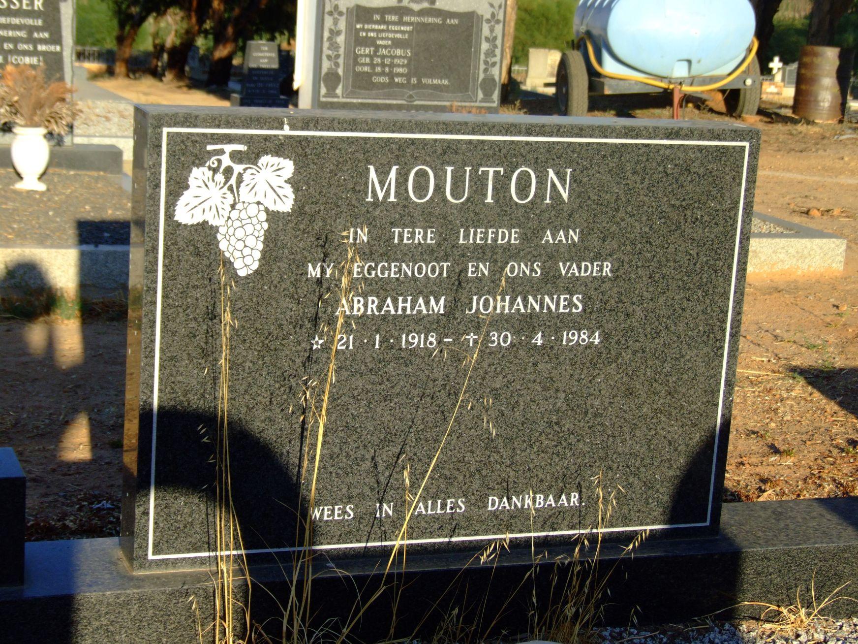 Mouton, Abraham Johannes