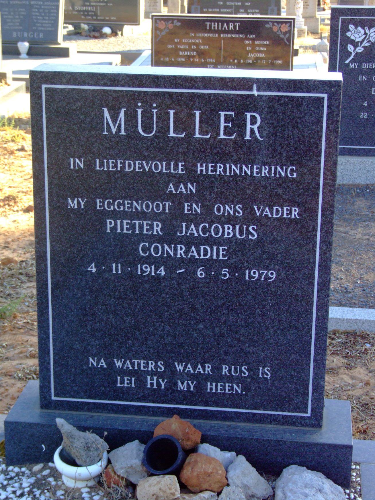 Muller, Pieter Jacobus Conradie