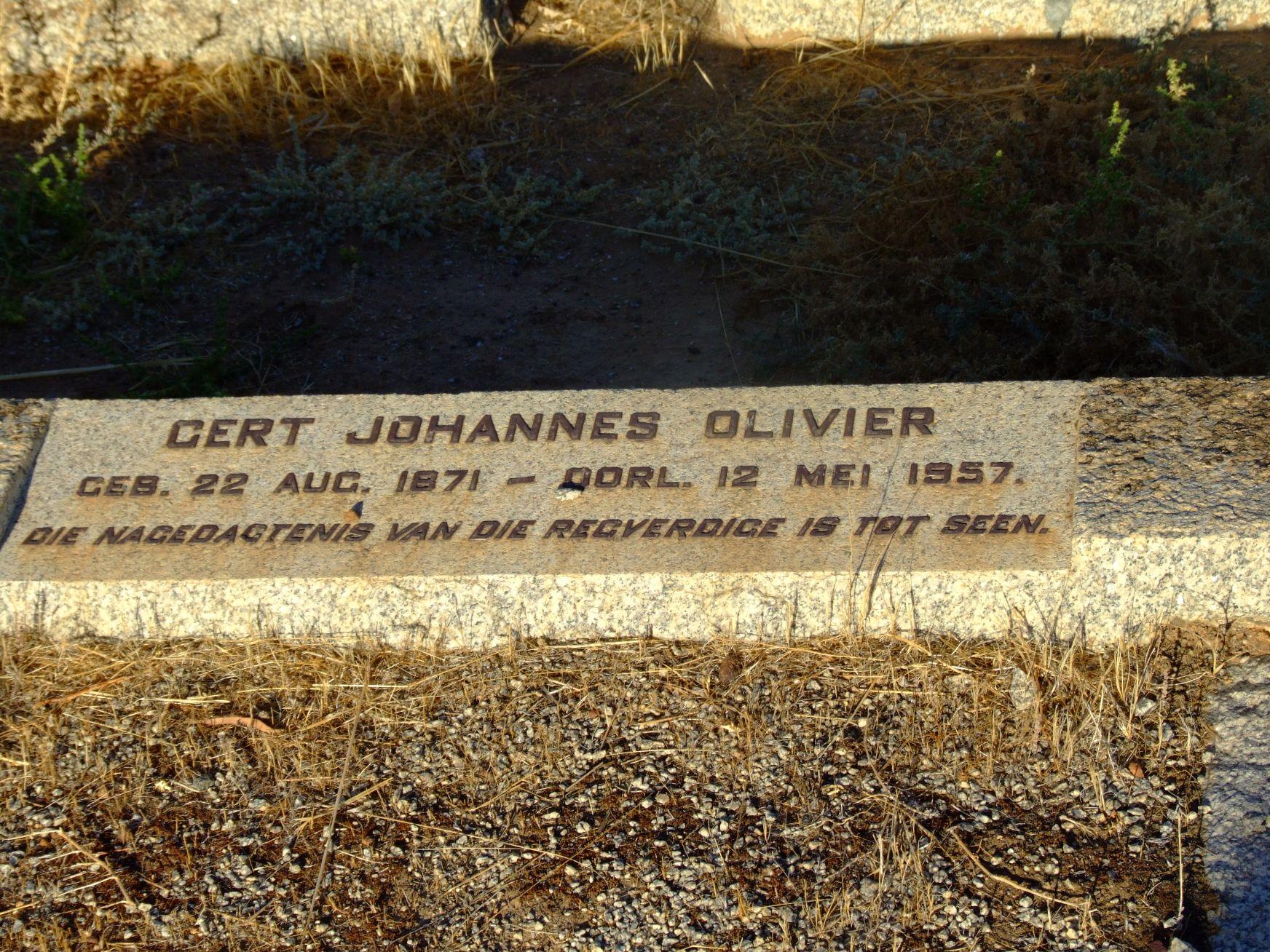 Olivier, Gert Johannes