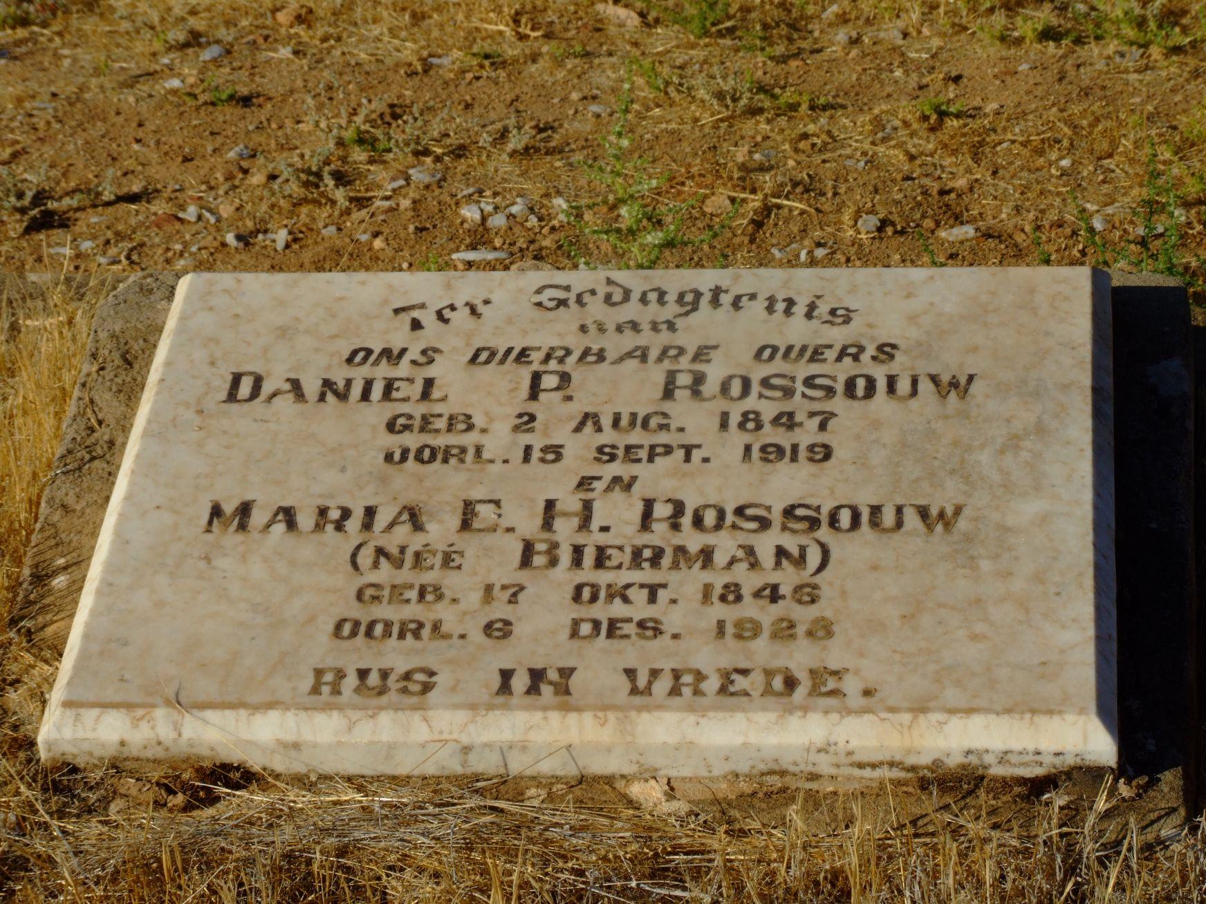 Rossouw, Daniel P. + Rossouw, Maria E. H.