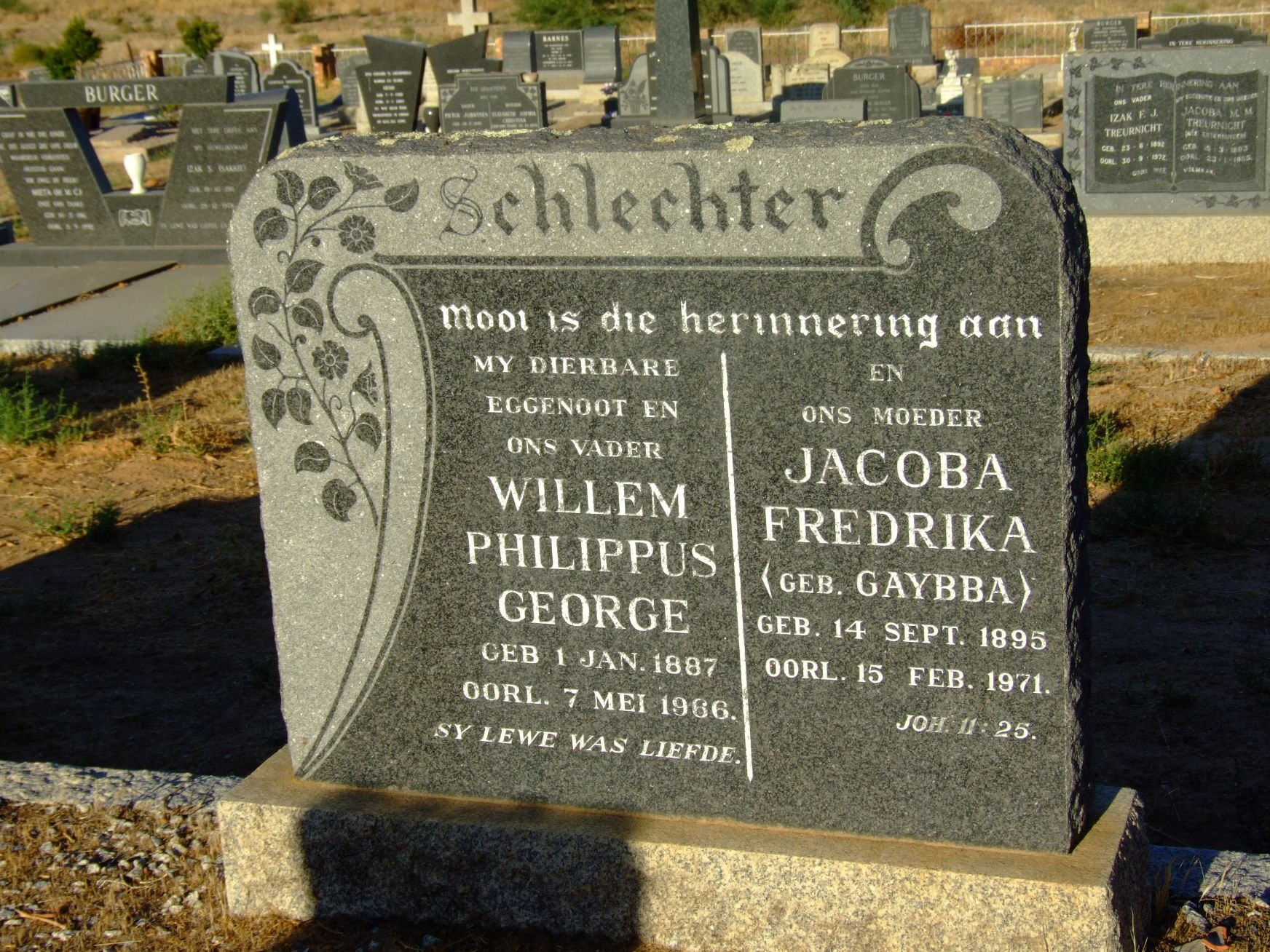Schlechter, Willem Philippus George and Schlechter, Jacoba Frede