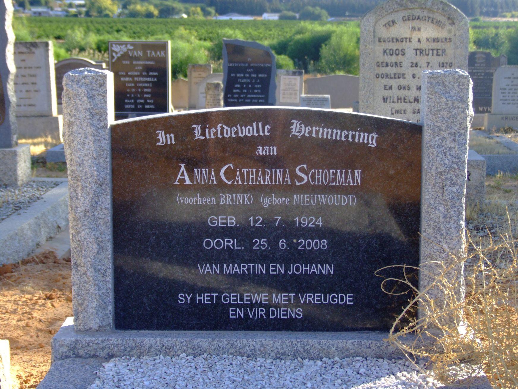 Schoeman, Anna Catharina