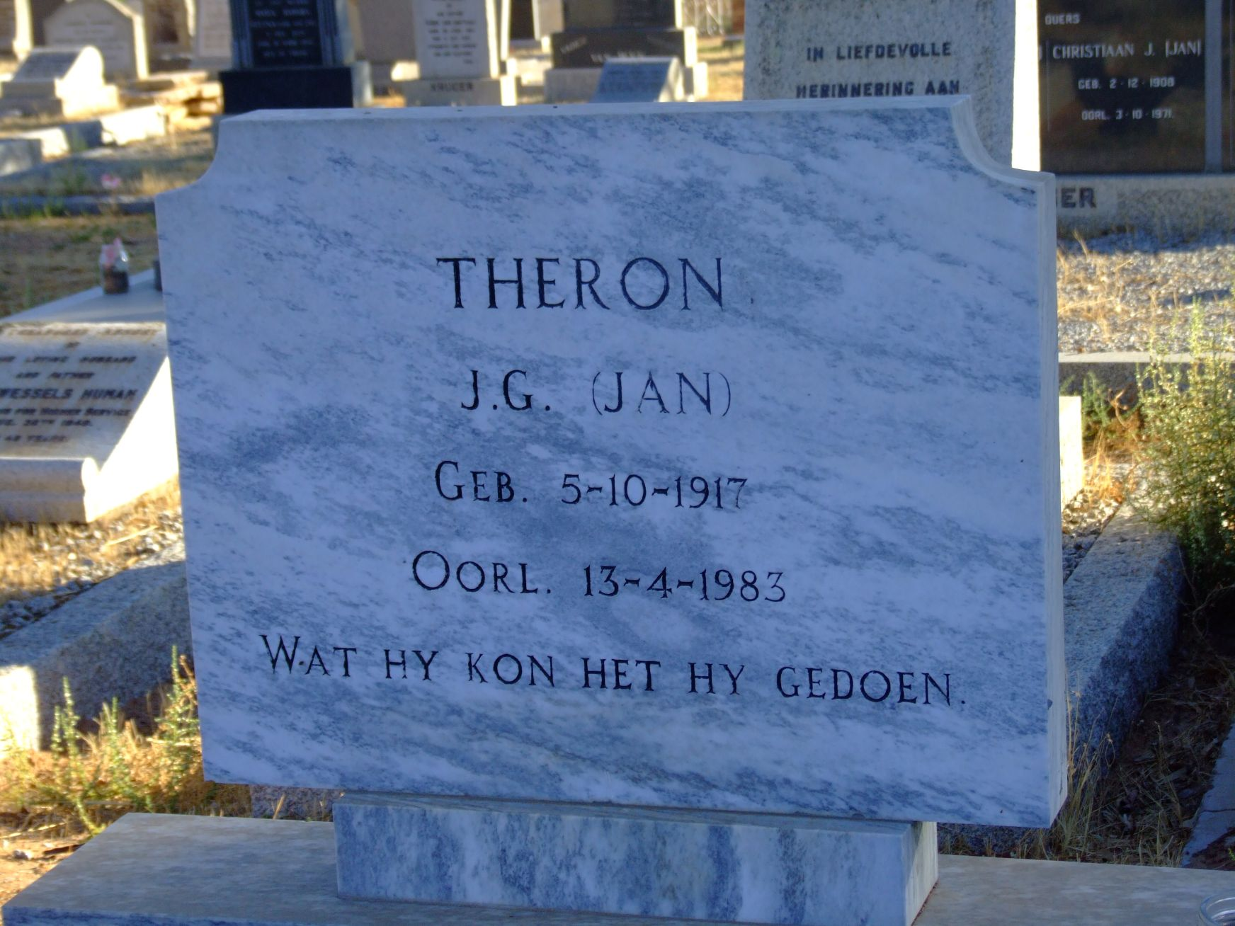 Theron, J.G. Jan