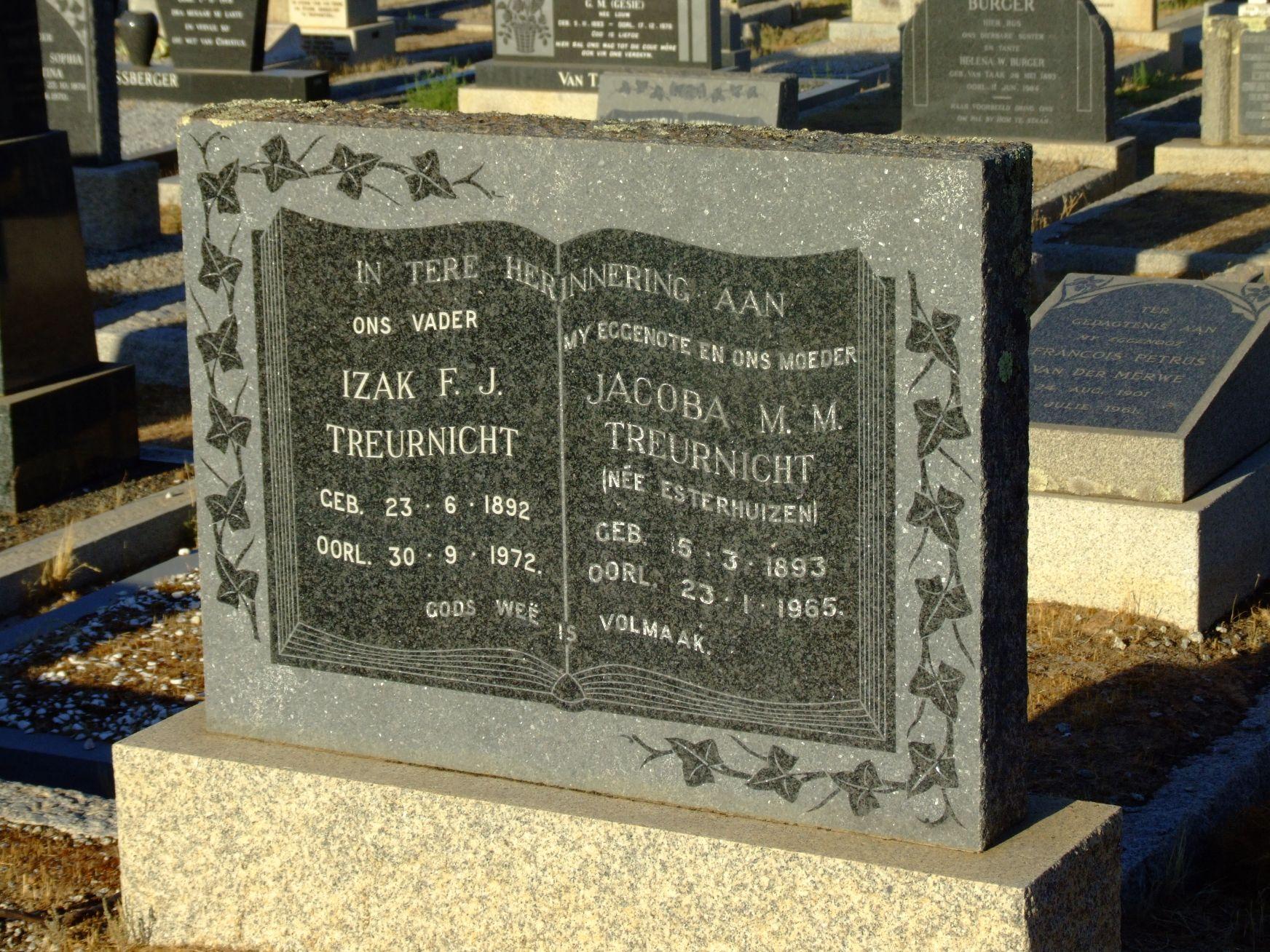 Treurnicht, Izak F. J. + Treurnicht, Jacoba M. M.