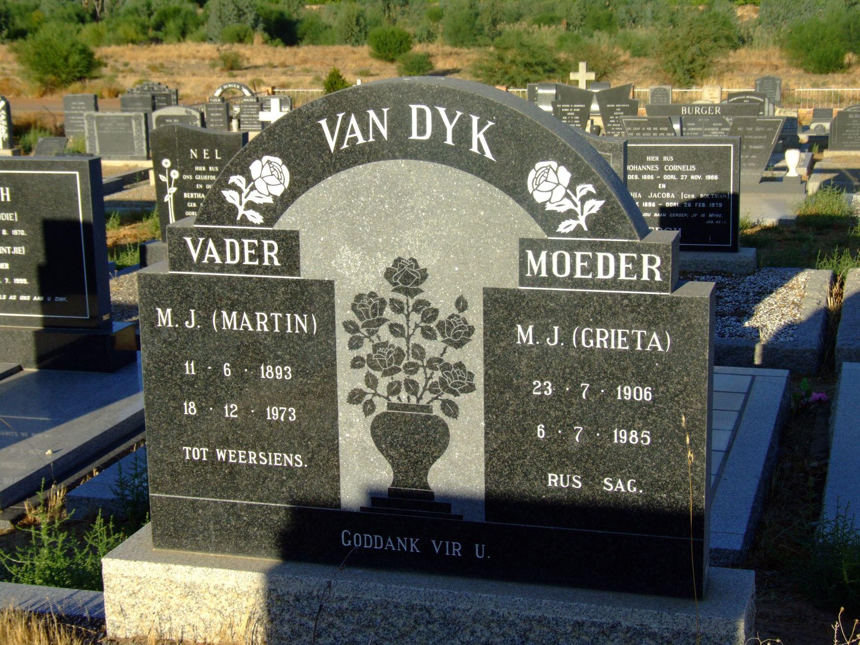 Van Dyk, M.J. (Martin) and Van Dyk, M.J. (Grieta)