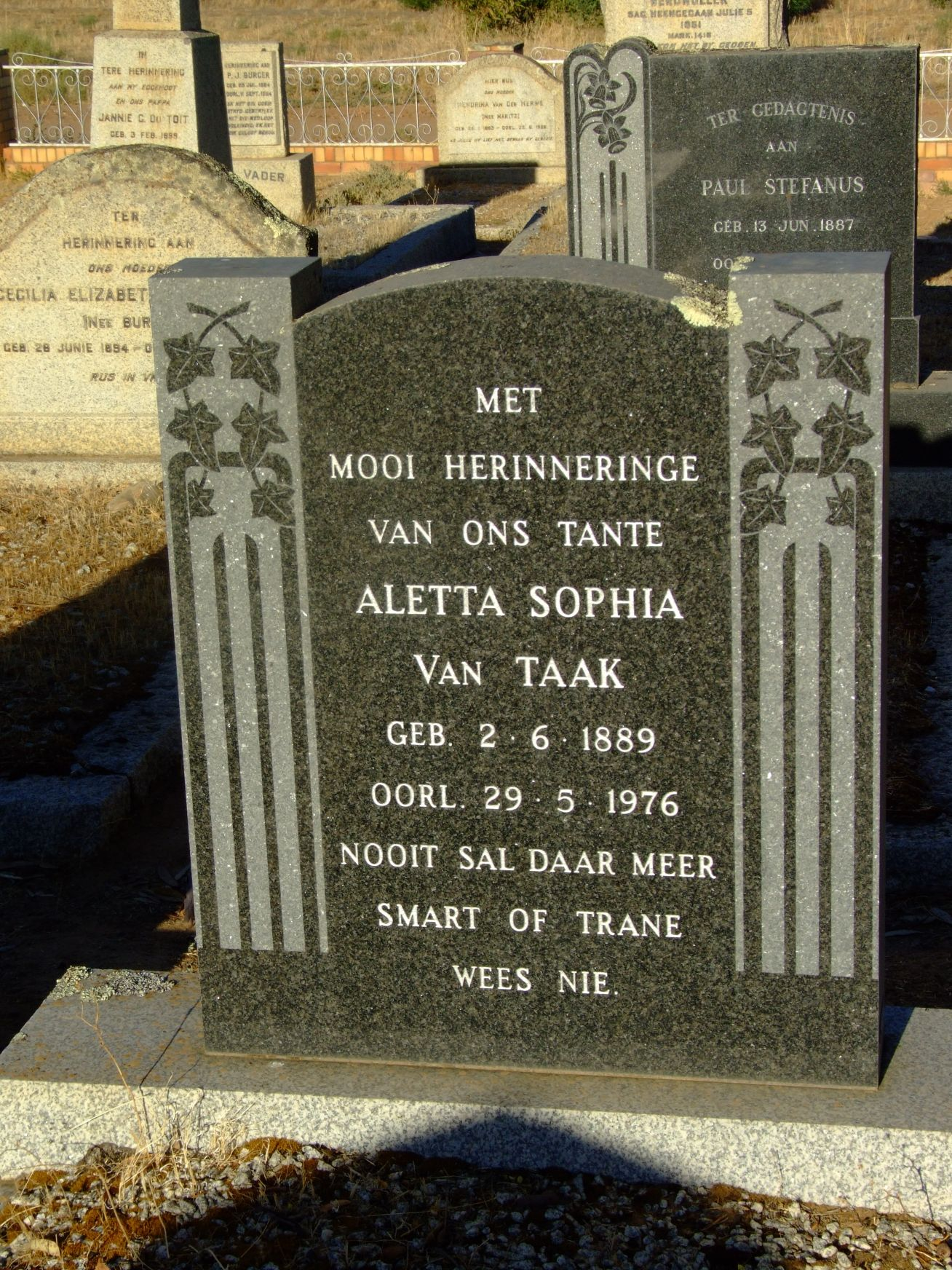 Van Taak, Aletta Sophia
