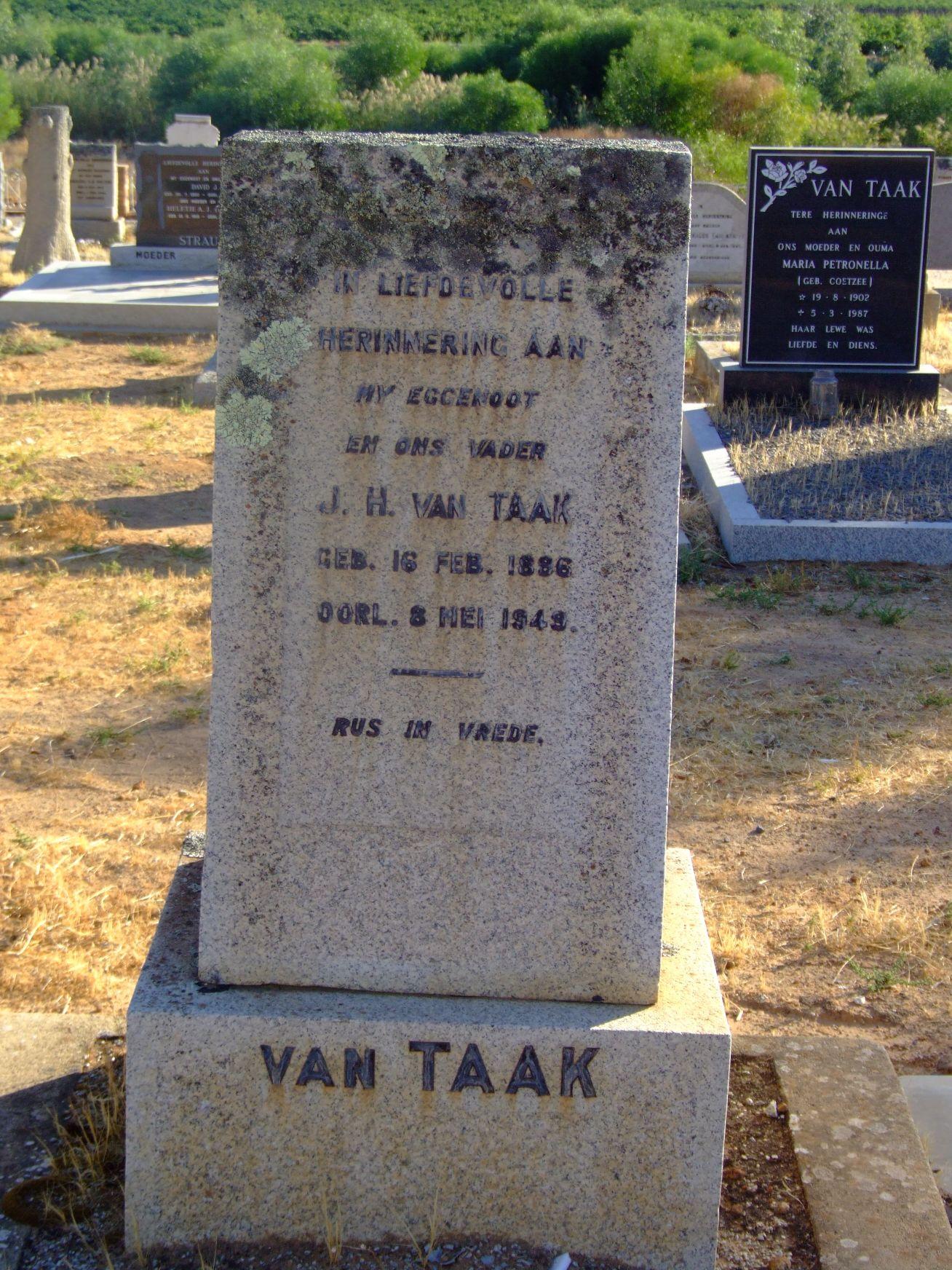 Van Taak, J. H.