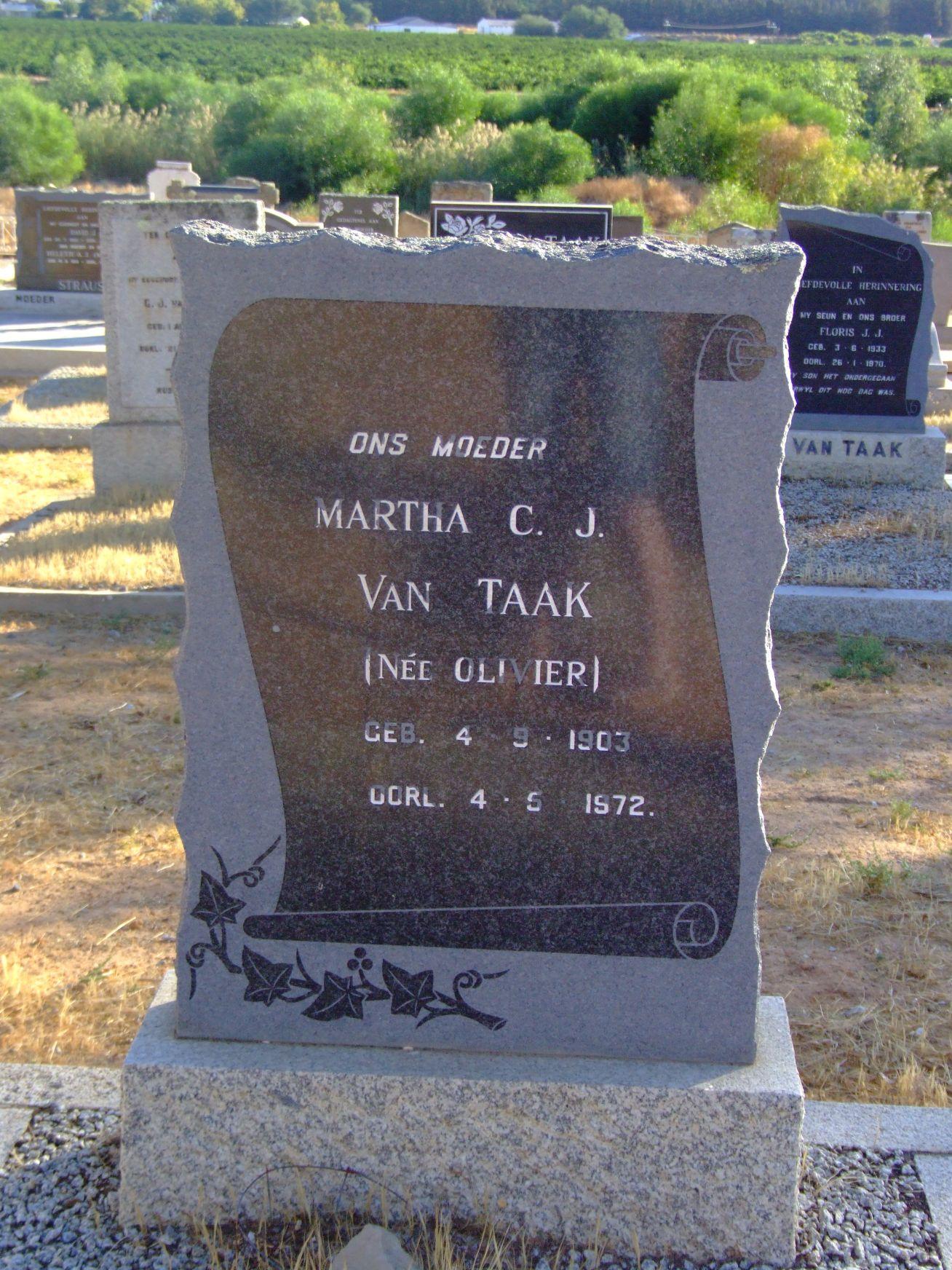 Van Taak, Martha C. J.