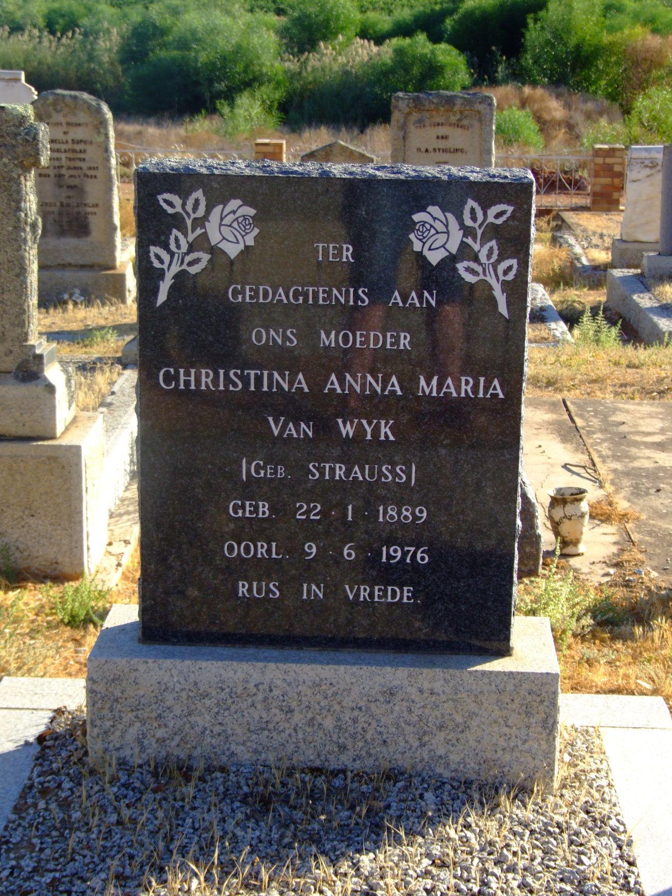 Van Wyk, Christina Anna Maria