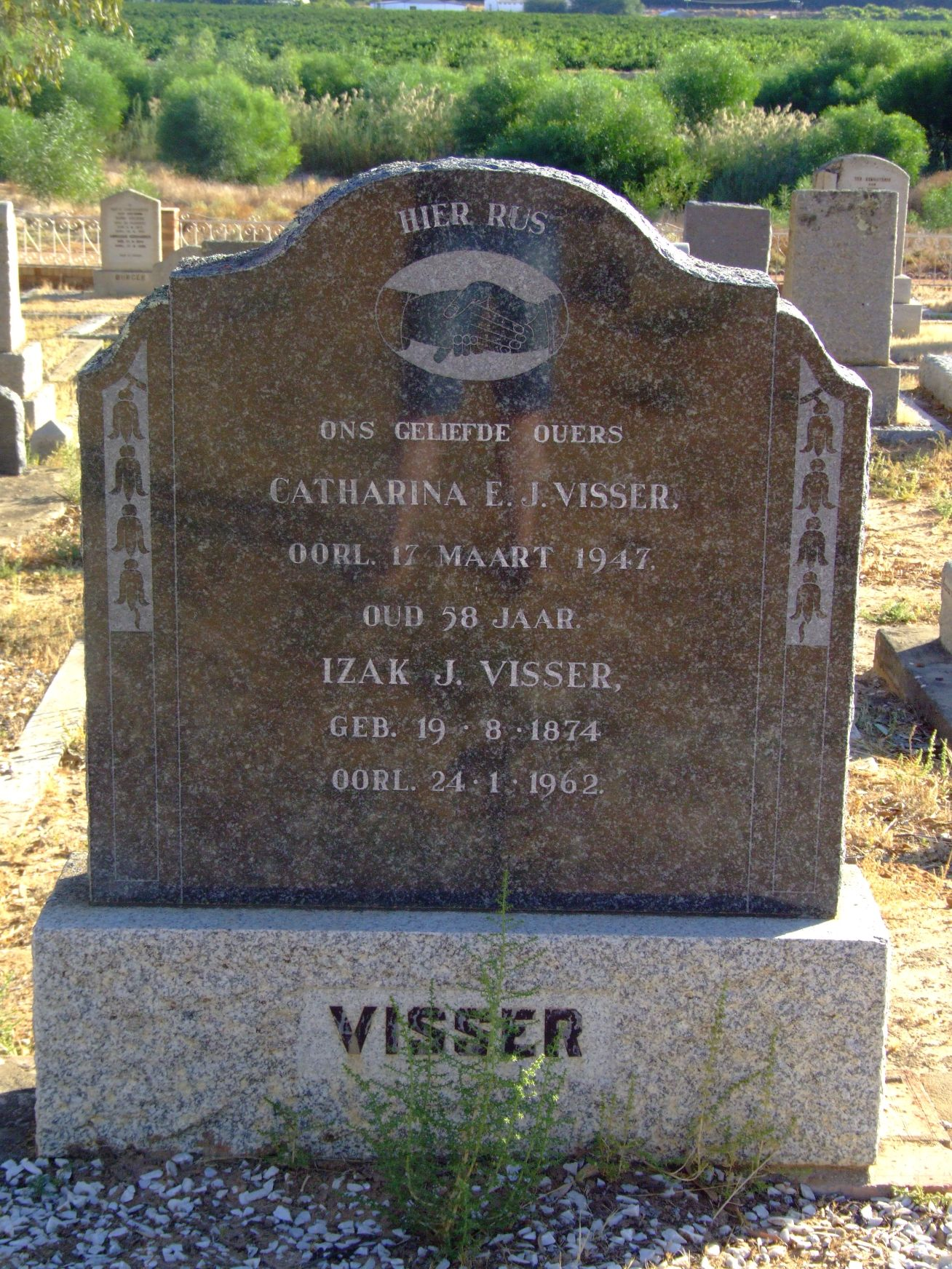 Visser, Catharina E J and Visser, Izak J