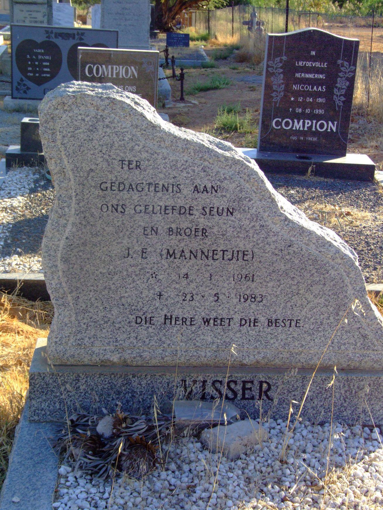 Visser, J.E. (Mannetjie)