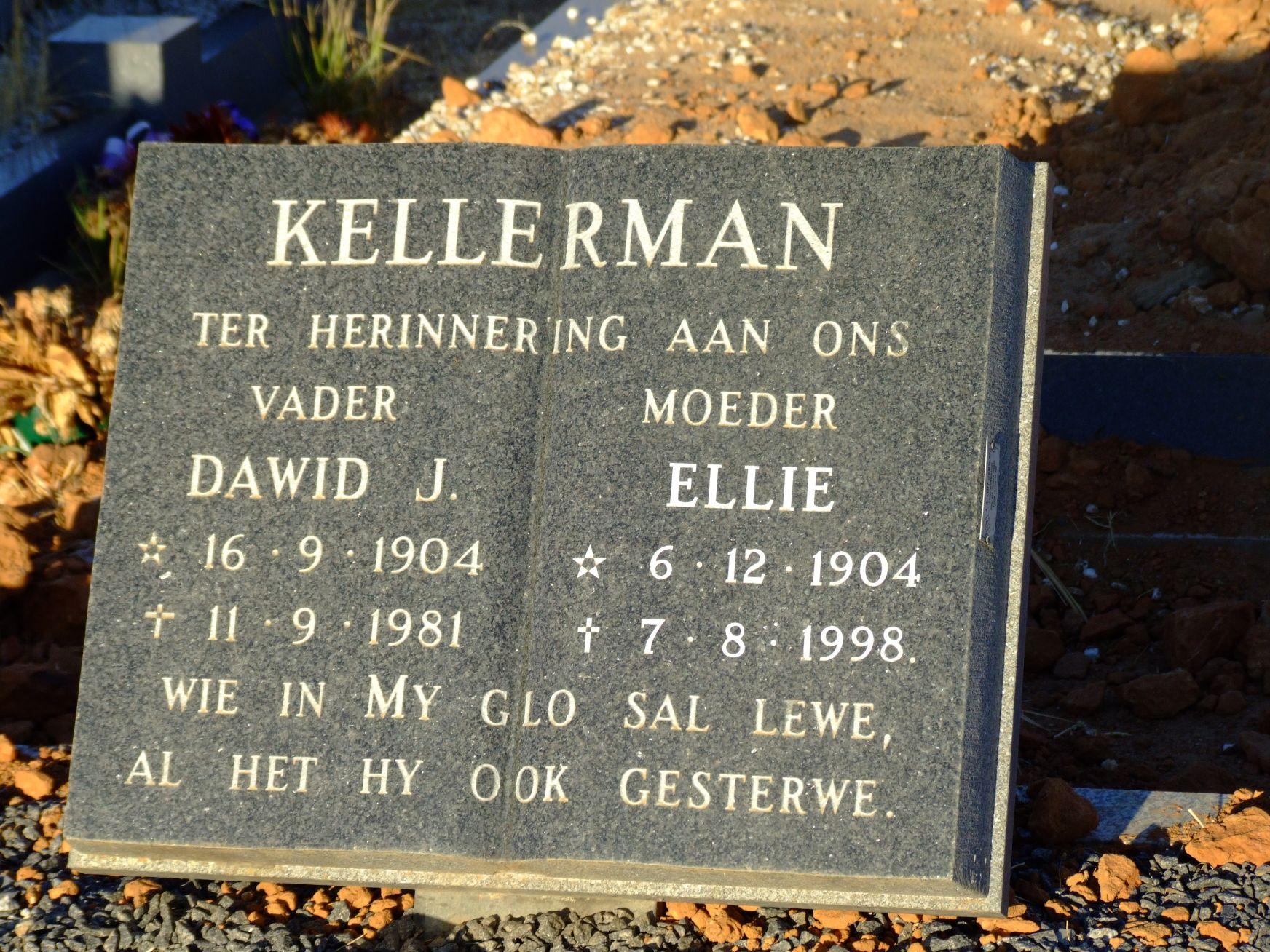 Kellerman Dawid J and Ellie