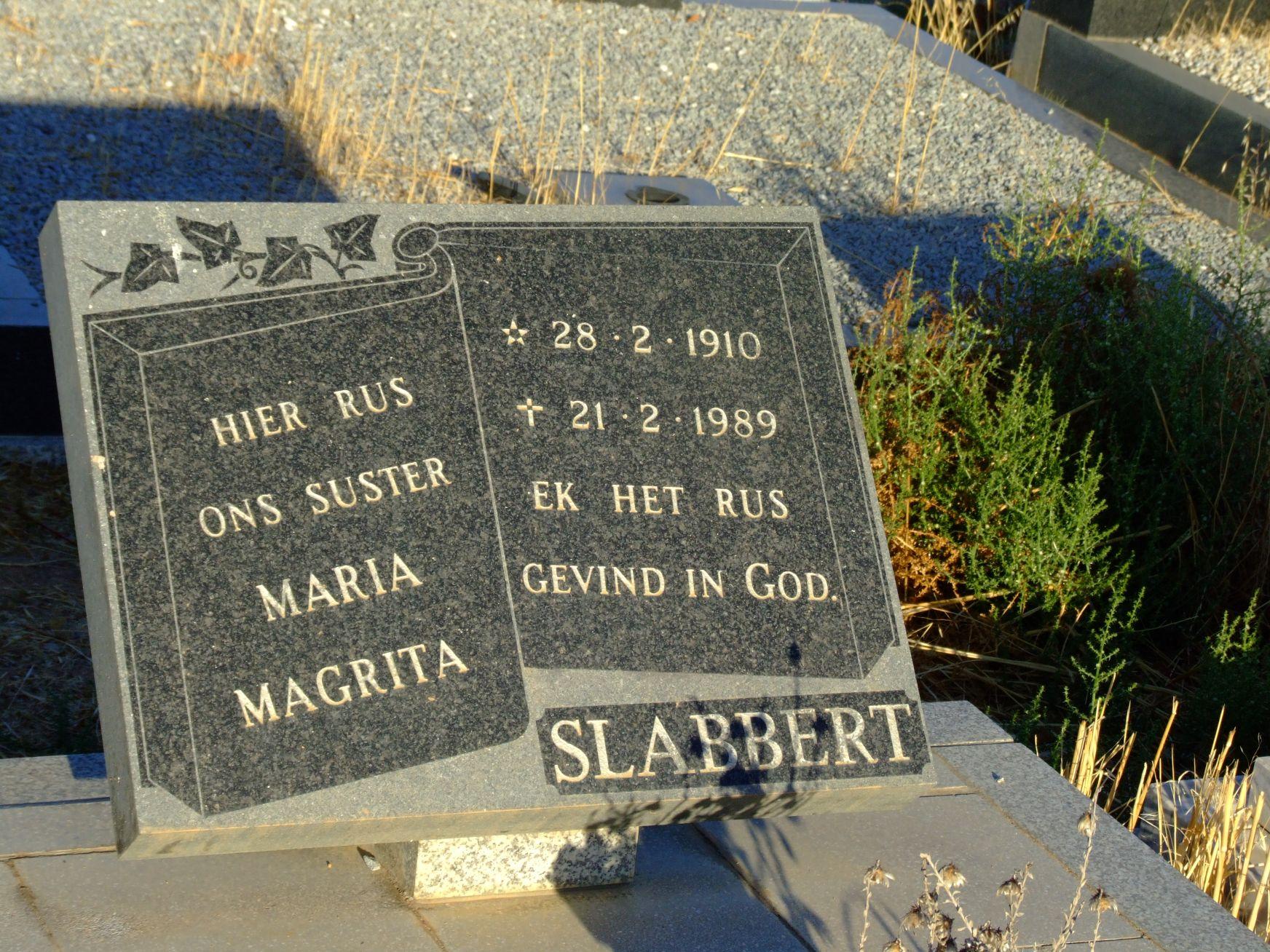Slabbert Maria Magrita