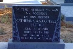 Coetzee, Catherina A. S. [Lettie]
