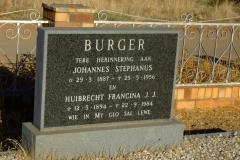 Burger, Johannes Stephanus and Burger, Huibrecht Francina J. J.