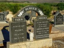 Burger, Willem P. and Burger, Christina W. (nee van Dyk)