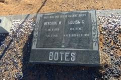 Botes, Hendrik M. + Louisa C. gebore Reitz