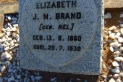 Brand, Elizabeth J.M. gebore Nel