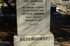 Badenhorst, Matthys Johannes