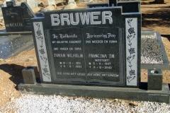 Bruwer, Johan Wilhelm + Francina nee Mostert
