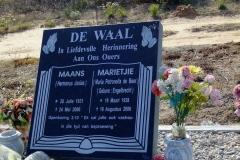 De Waal, Maans + Marietjie