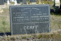 Cerff, Catharina JC born 01 February 1879 died 23 July 1967 + Severus Marthinus born 17 June 1884 died 15 November 1970