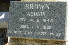 Brown, Adonis