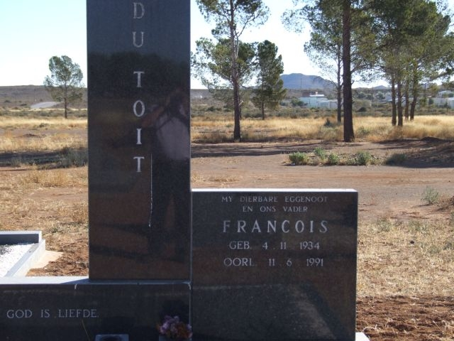 Du Toit, Francois born 04 November 1934 died 11 June 1991