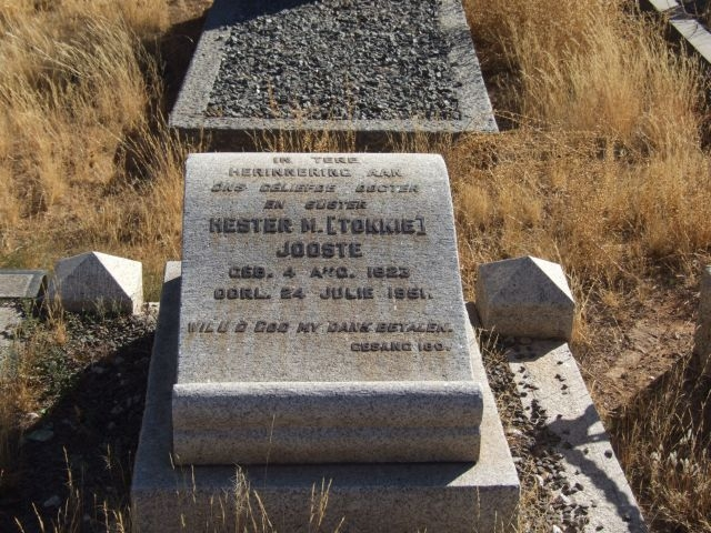 Jooste, Hester M Tokkie born 04 August 1923 died 24 July 1951