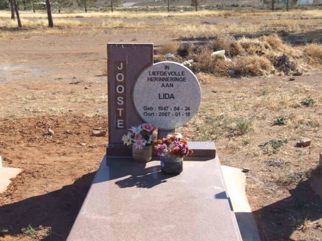 Jooste, Lida born 24 April 1947 died 18 January 2007