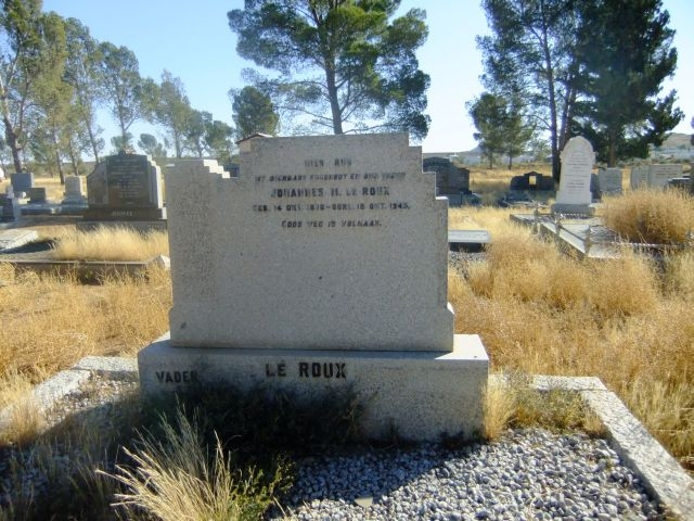 Le Roux, Johannes H born 14 October 1876 died 18 October 1945