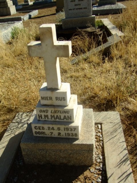 Malan, HM born 24 May 1927 died 07 February died 1938