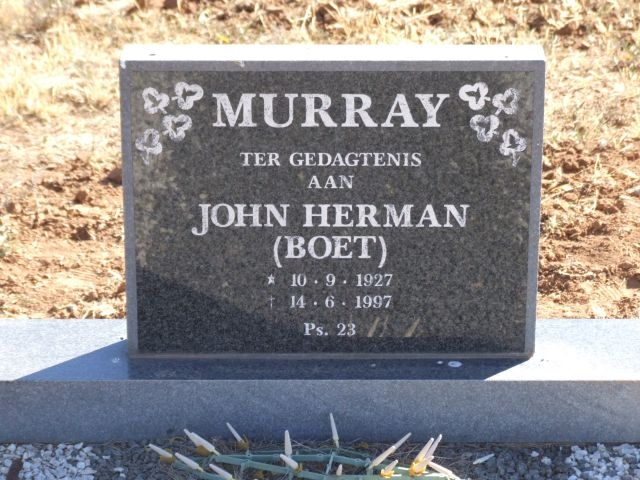 Murray, John Herman Boet born 10 September 1927 died 14 June 1997