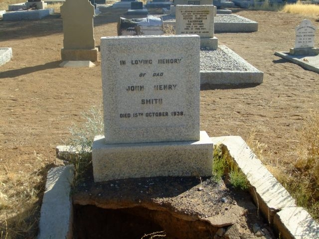 Smith, John Henry died 15 October 1938