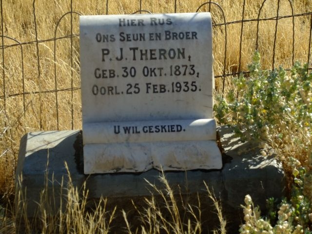 Theron, PJ born 30 October 1873 died 25 February 1935
