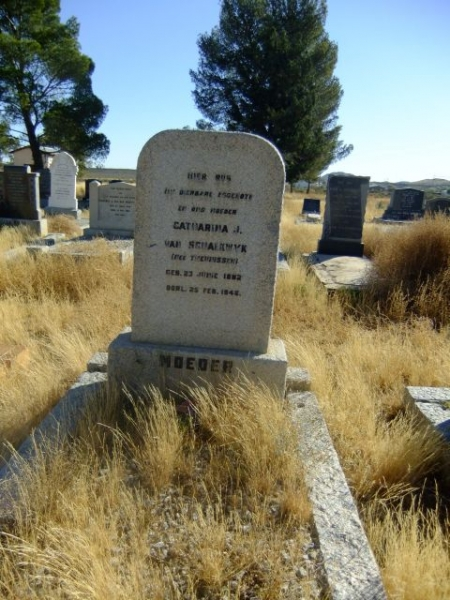 Van Schalkwyk, Catharina J nee Theunissen born 23 June 1882 died 25 February 1946