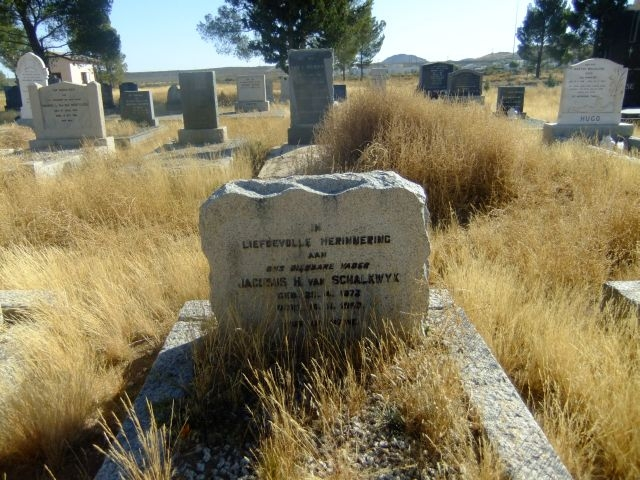 Van Schalkwyk, Jacobus H born 25 April 1873 died 15 November 1952